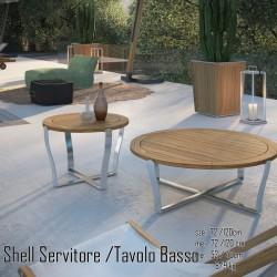026 Shell dohányzóasztal 10 Asztalok Kert, wellness 026
