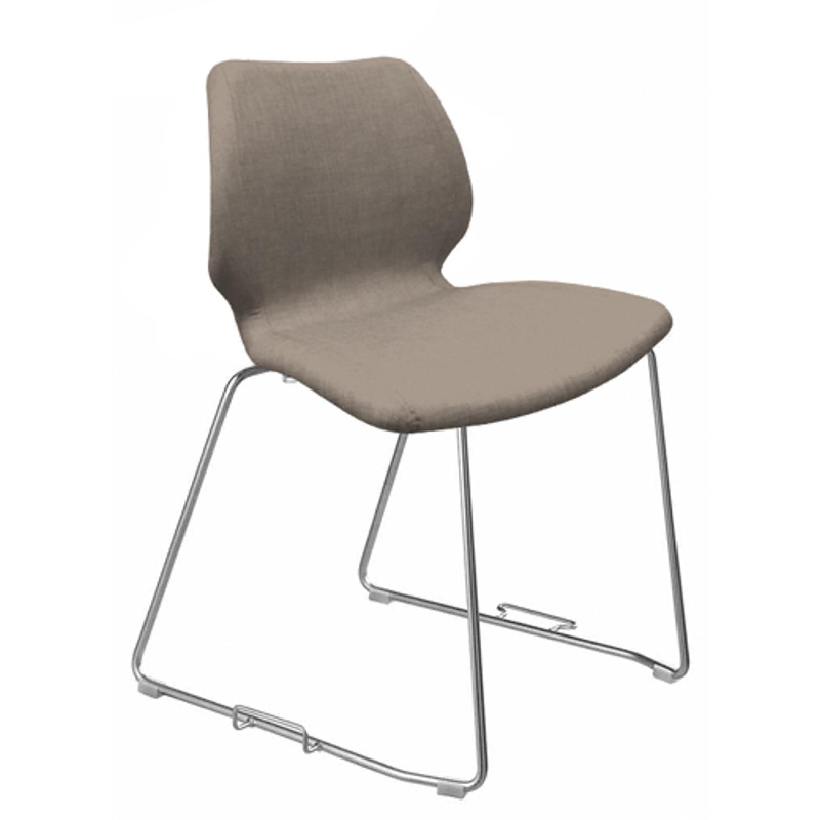 552M G Uni kárpitozott polipropilén vázas szánkótalpas szék