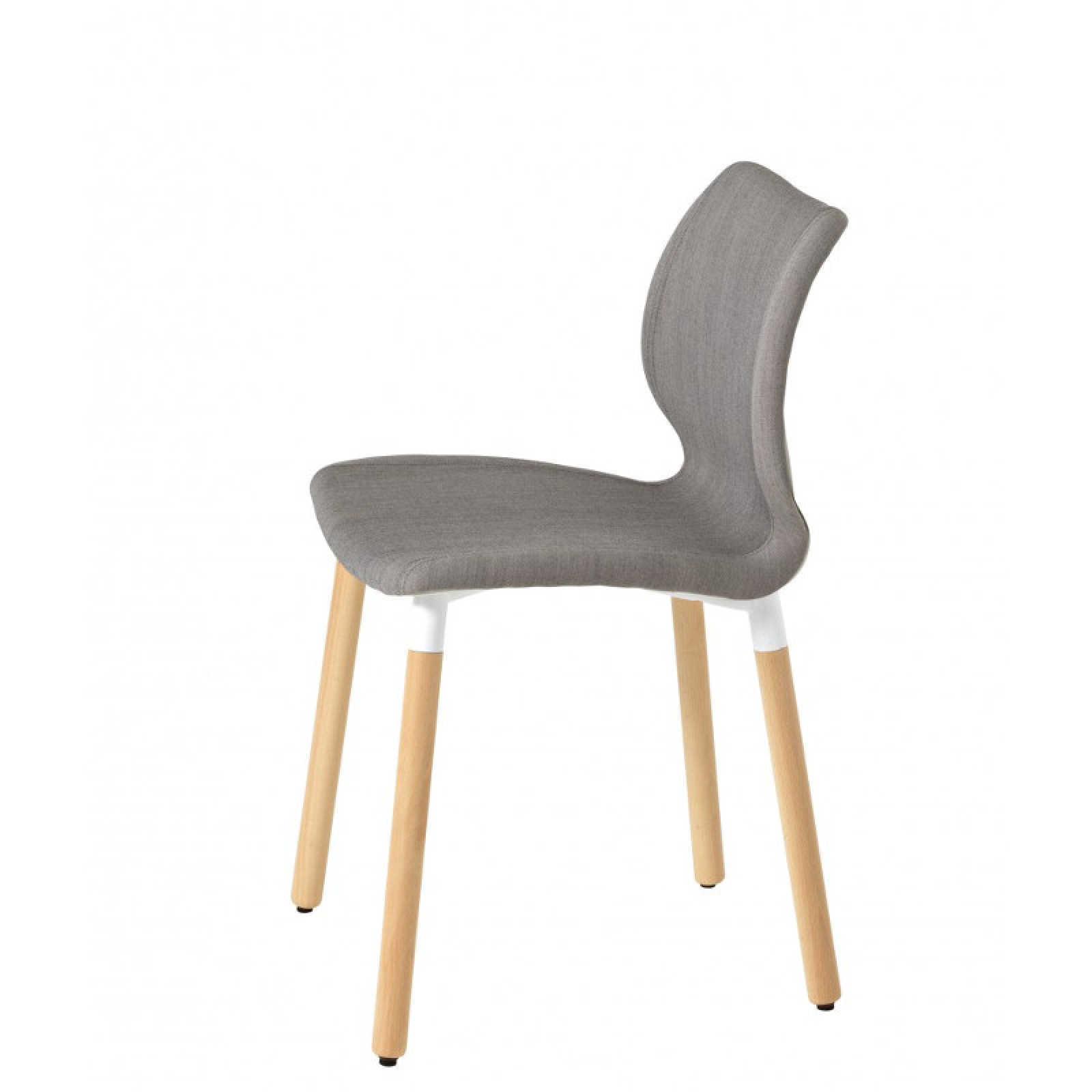 602M Uni kárpitozott fa lábú polipropilén vázas szék